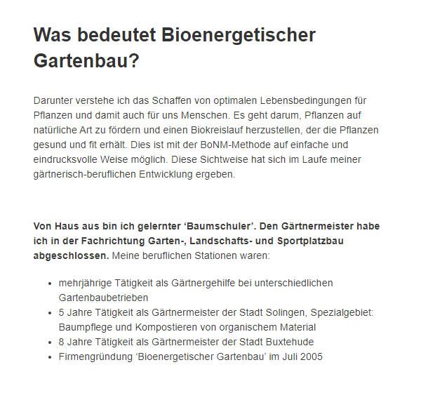 Bioenergetischer Gartenbau