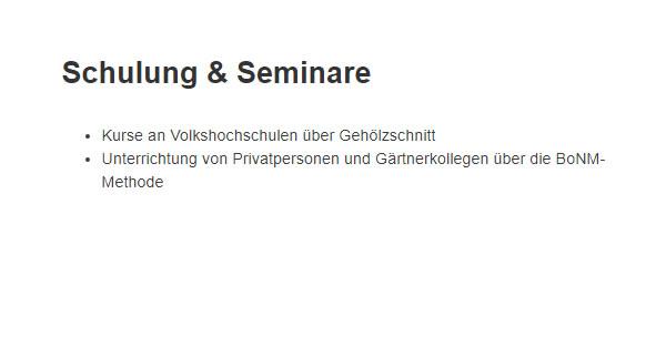 Gehoelzschnitt Seminar für  Großenwörden